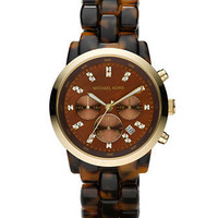 Michael Kors Oversized Tortoise Watch - Michael Kors