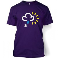 Something Geeky PP - Weather Symbol Snow With Rain And Sun T-shirt