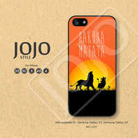 HAKUNA MATATA iPhone 5 Case iPhone 5c Case iPhone 4 Case iPhone 5s Case iPhone 4s Case Disney The lion king Phone Cases Phone Covers - J121