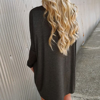 Deep Gray Piko Tunic/Dress