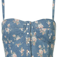 Ditsy Denim Bralet - Festival Shop  - Collections  - Topshop USA