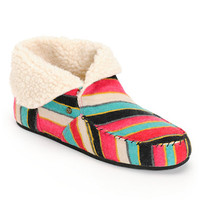 Volcom Girls Good Spirits Multi Stripe Slippers