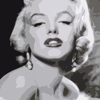 Marilyn Monroe Stretched Canvas by David Somers