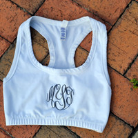 MONOGRAMMED Sports Bra - Exercise - Personalized - Cheerleading