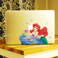 Disney Ariel Little Mermaid Decal for Macbook Pro, Air or Ipad Stickers Macbook Decals Apple Decal for Macbook Pro / Macbook Air13124