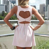 HEART CUT OUT DRESS , DRESSES, TOPS, BOTTOMS, JACKETS & JUMPERS, ACCESSORIES, 50% OFF SALE, PRE ORDER, NEW ARRIVALS, PLAYSUIT, COLOUR, GIFT VOUCHER,,Pink,CUT OUT,BACKLESS,SLEEVELESS Australia, Queensland, Brisbane