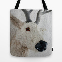 Winter Deer - JUSTART © Tote Bag by JUSTART