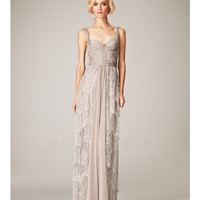 (PRE-ORDER) Mignon Spring 2014 - Champagne Sweetheart Lace Gathered Gown