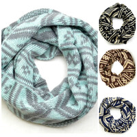 Alpine Woods Fairisle Infinity Scarves