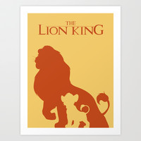 The Lion King Art Print by Citron Vert