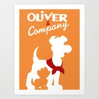 Oilver and company Art Print by Citron Vert