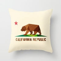 California Throw Pillow by Fimbis