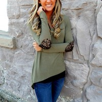Sequined Elbow Patch Tunic