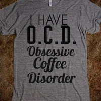 ocd obsessive coffee disorder-Unisex Athletic Grey T-Shirt