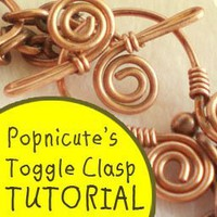 Toggle Clasp TUTORIAL Wire Wrapped a la Popnicute - PDF Instruction | popnicutesupplies - How-To on ArtFire