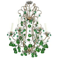 "Betsey Ruprecht Decorative Antiques - Continental Six Light Chandlier,w/unusual glass ""fruit"" pendants - 1stdibs"