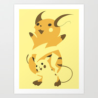 Pokemon 25 and 26 Art Print by Citron Vert