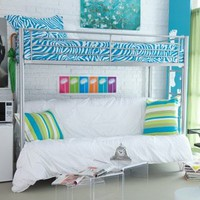 Walmart: Duro Wesley Twin over Futon Bunk Bed - Silver