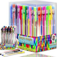Bright Knight Gel Pens | 36 Gel Pen Set | These are Quality Gel Ink Pens | Multi Colored | Fine Ink Ballpoint Pens | Smooth, Anti Skip, Vibrant Color - Neon , Pastel, Metalic, Glitter | A Great Range of Colors in This Gel Pen Set | Manufactured to the High