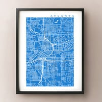 Atlanta Map Art Poster Print
