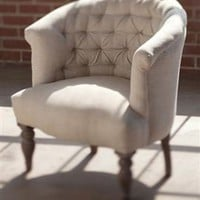 Round Tufted Boudoir Chair