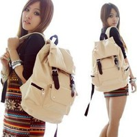 Amazon.com: White PU Leather-like Material Backpack/ Schoolbag Cool for School: Computers & Accessories