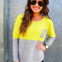 Highlighter & Gray Sequin Knit