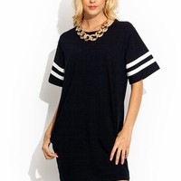 Striped Sporty Babe Tee Dress