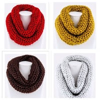 Mega CRAZY SALE ends 5pm PST: Thick warm and cozy chunky knitted infinity scarves