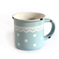 Blue Doily Mug | Hello Polly