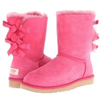 UGG BAILEY BOW Women's Boots Dark Dusty Rose 6 7 8 9 Sheepskin New Box Authentic