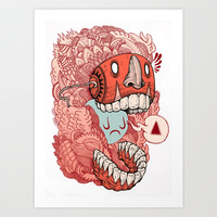crazy mask Art Print by Iain Macarthur