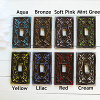 Light Switch Cover / Light Switch Plates / Single Light Switch Cover / Home Accents / Brown Home Decor / Customize Color