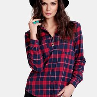 Camping Lodge Plaid Button-Up