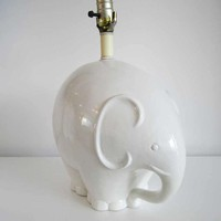 Pair of Mid Century Ceramic Elephant Lamps