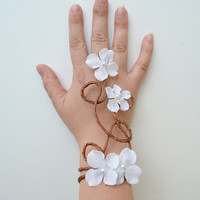 White Fairy Bracelet - Bridesmaid gift - Christmas gift
