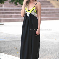 LINCOLN MAXI , DRESSES, TOPS, BOTTOMS, JACKETS & JUMPERS, ACCESSORIES, 50% OFF SALE, PRE ORDER, NEW ARRIVALS, PLAYSUIT, COLOUR, GIFT VOUCHER,,MAXIS,Print,Sequin,SLEEVELESS,Black Australia, Queensland, Brisbane