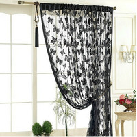 Butterfly lace curtain