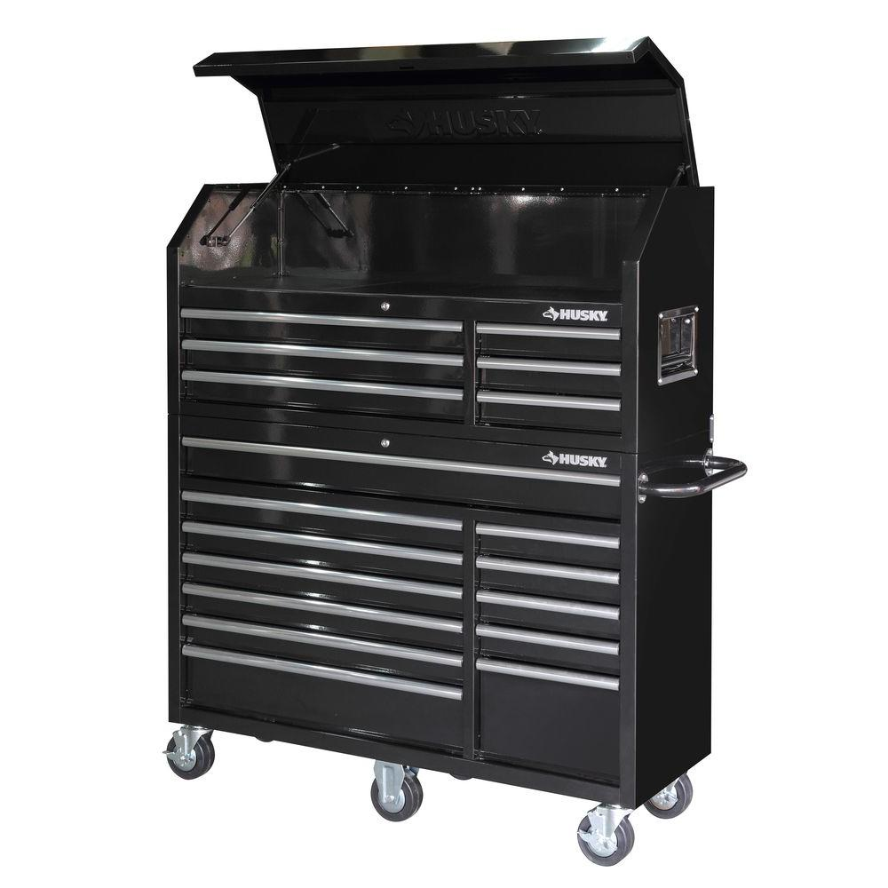 Husky 52 In 18 Drawer Tool Chest And From Home Depot