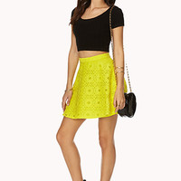 Retro Crochet Skater Skirt