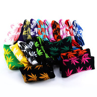 Men/Women Plantlife Marijuana Weed Leaf Cotton High Socks 20 Colors Dress Socks