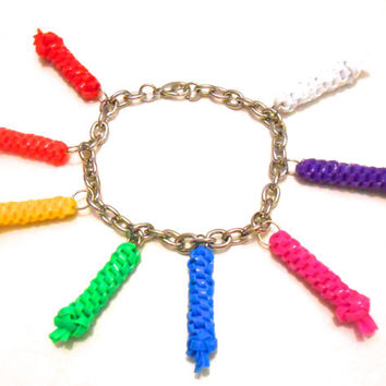Rainbow Charm Bracelet With Rexlace Charms