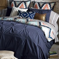 Blissliving Home 'Harper - Navy' Cotton Sateen Duvet Cover & Shams (Online Only)