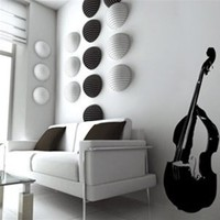 Wall Decal Stand Up Bass- WALLTAT.com Art Without Boundaries