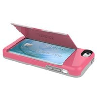 Incipio STOWAWAY Case for iPhone 5C - Retail Packaging - Pink/Gray