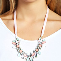Rachel Flower And Gem Necklace