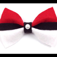 Pokemon Original Pokeball Hair Bow Free Shipping