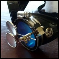 Steampunk goggles glasses Time Travel Crazy Scientist's Oculo-Vision Tool welding cyber punk biker gothic rave--LIMITED