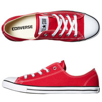 SURFSTITCH - FOOTWEAR - WOMENS FOOTWEAR - SNEAKERS - CONVERSE CHUCK TAYLOR ALL STAR DAINTY LO SHOE - RED