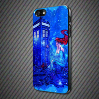 CashCases - Doctor Who Meets Disney Tardis Ariel Little Mermaid Galaxy Nebula - iPhone 4/4s, 5, 5s, 5c, Samsung S3, S4